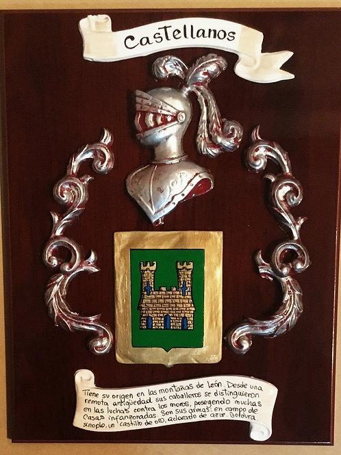 Escudo heraldico 1 apellido  en metopa ( modelo pequeño)