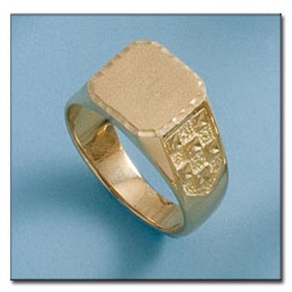 Sello oro 18 Kl. 13x12 mm. 10 gr. para grabar