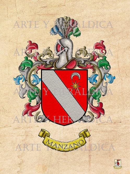 Manzano escudo Vintage en PDF
