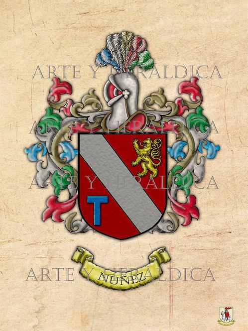 Núñez escudo vintage PDF