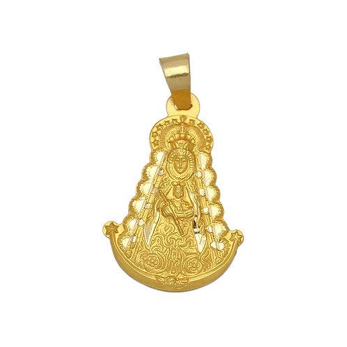 Medalla Virgen del Rocío oro 18 Kl. 19x28 mm.