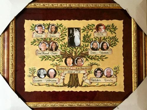 arbol-genealogico-con-fotos-pintado-a-mano