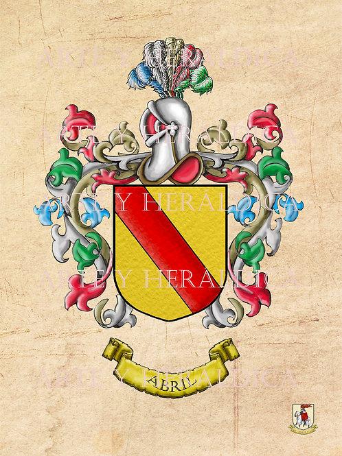 Abril escudo vintage en PDF