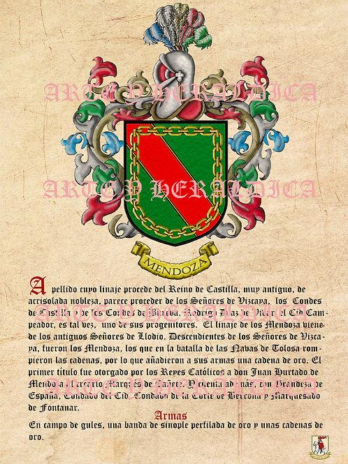 escudo del apellido Mendoza