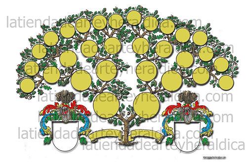 Árbol genealógico de 4 generaciones descarga