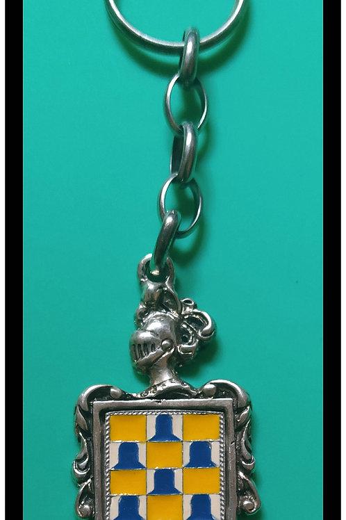 Velasco  llavero de plata escudo en esmalte