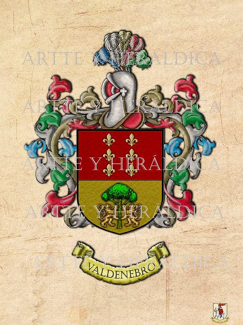 escudo del apellido Valdenebro