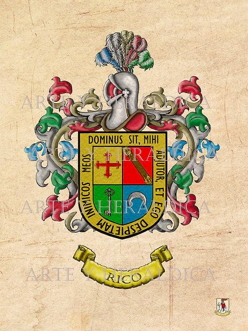 Rico escudo vintage en PDF
