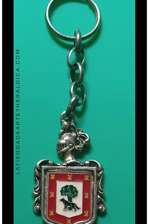 Vizcaíno llavero de plata escudo en esmalte