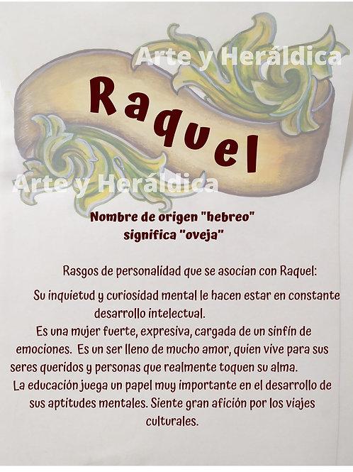 Raquel, origen del nombre para descargar