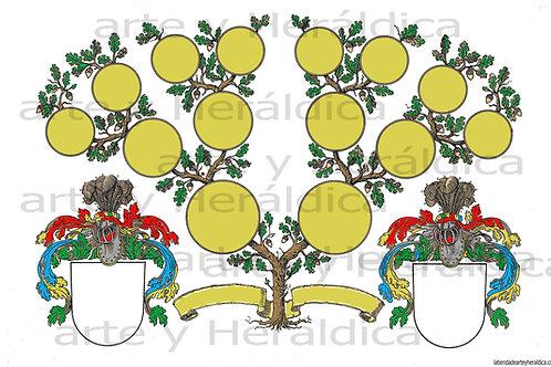 Árbol Genealógico 3 generaciones, descarga