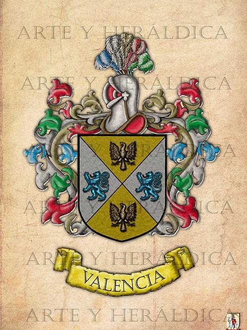 Valencia escudo vintage en PDF