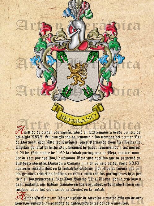 Bejarano escudo con origen vintage