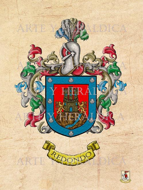 Redondo escudo vintage en PDF