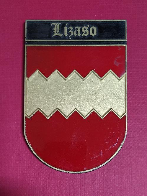 Lizaso ( escudo del apellido en esmalte)