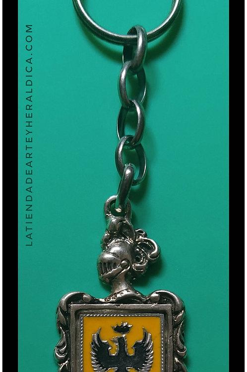 Aguilar llavero de plata escudo en esmalte