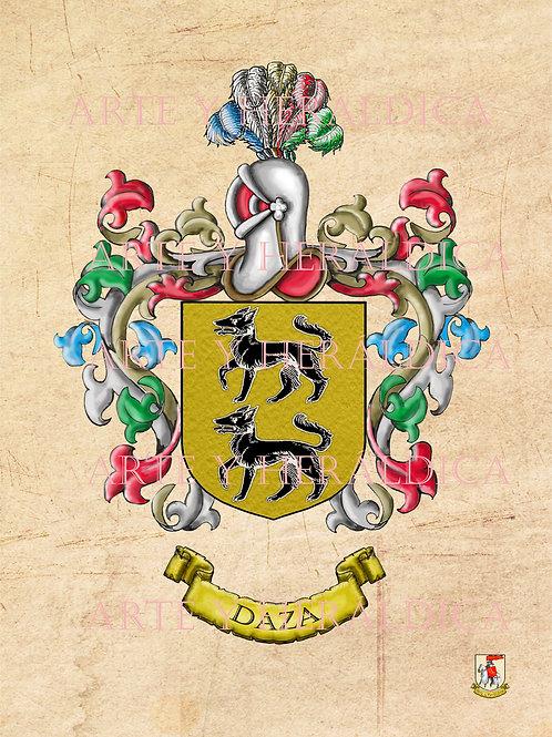 escudo del apellido Daza