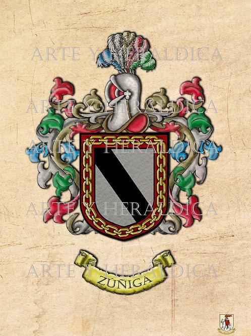 Zúñiga escudo vintage PDF