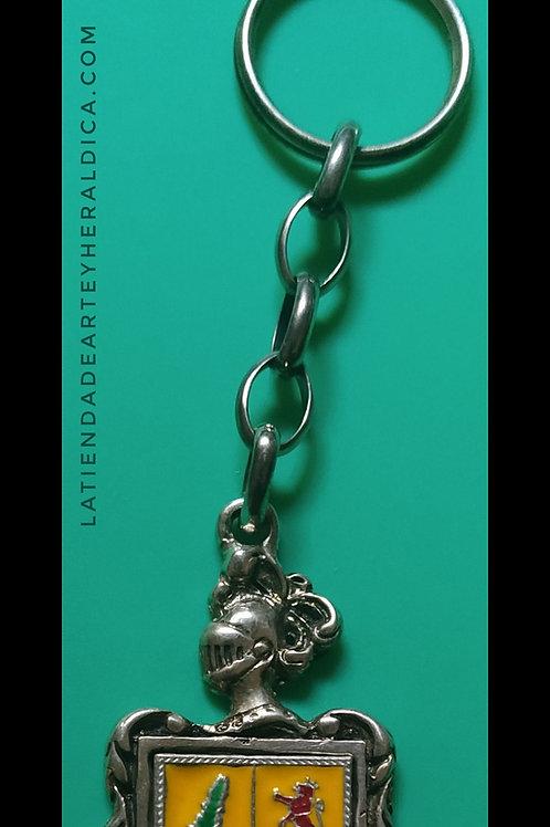 llavero de plata con escudo apellido
