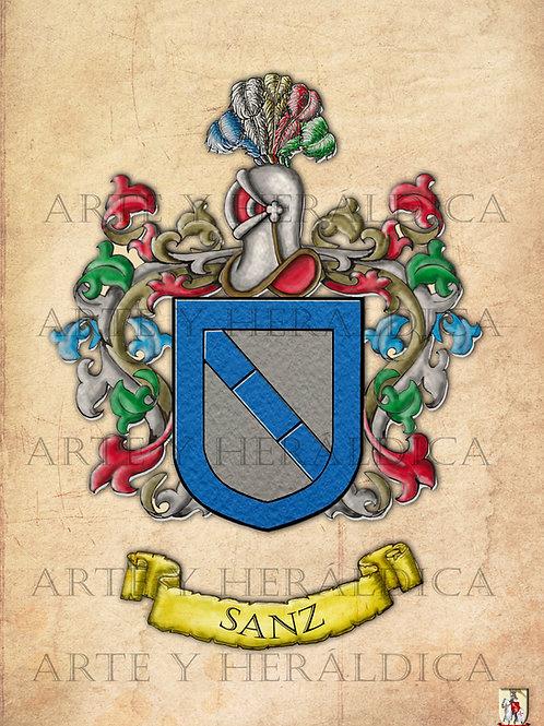 Sanz escudo vintage en PDF