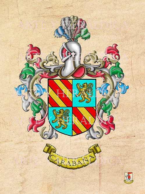 Carabaña escudo vintage en PDF