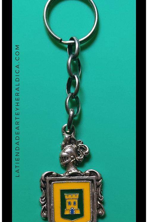 Castellanos  llavero de plata escudo en esmalte