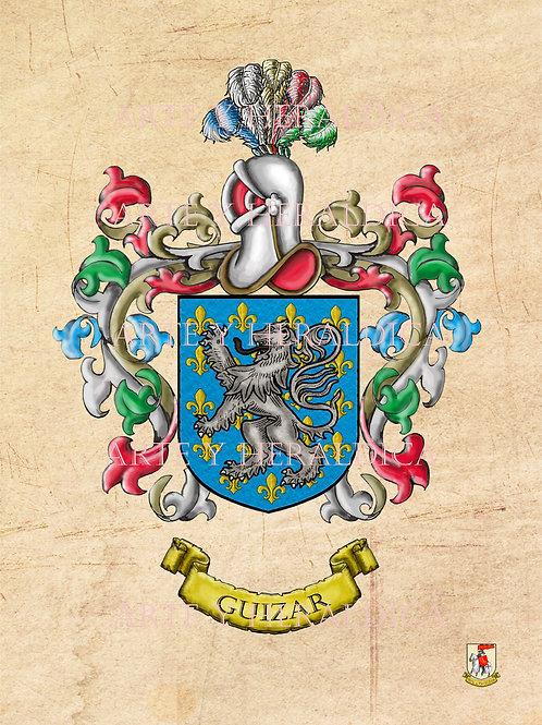 escudo del apellido Guizar
