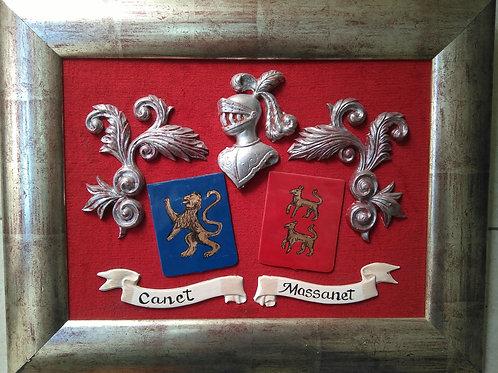 cuadro con escudos esmaltados