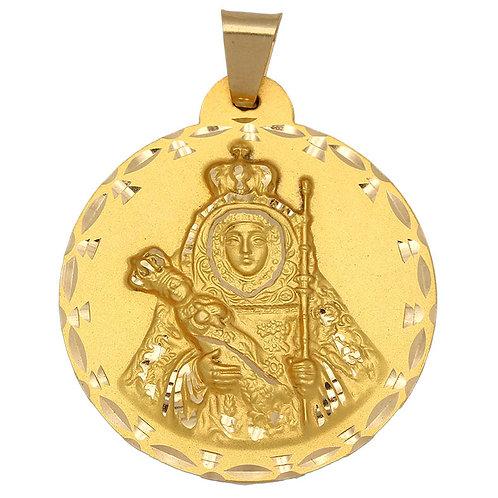 Medalla Virgen Candelaria oro 18 Kl. 42mm