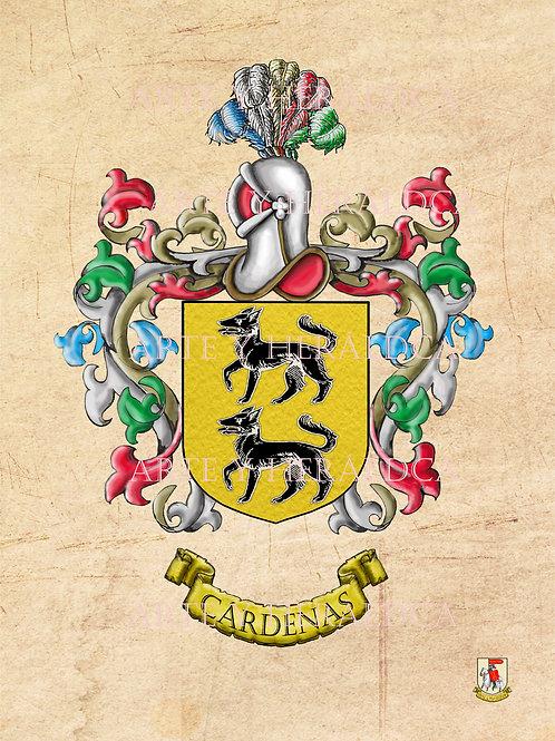 Cárdenas escudo vintage en PDF