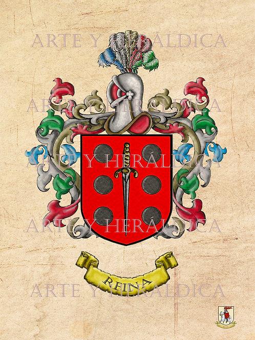 Reina escudo vintage en PDF
