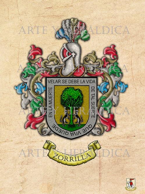 escudo del apellido Zorrilla