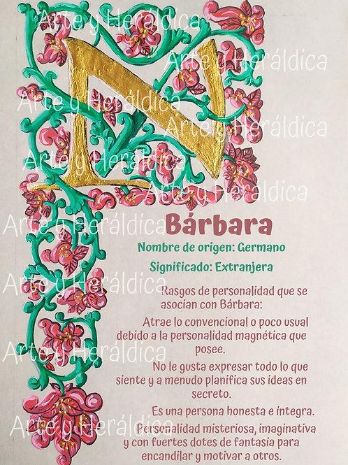 Bárbara, origen del nombre para descargar