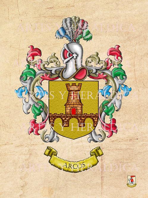 escudo del apellido Arcos