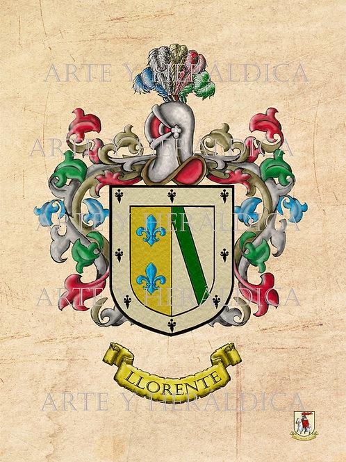 Llorente escudo vintage en PDF