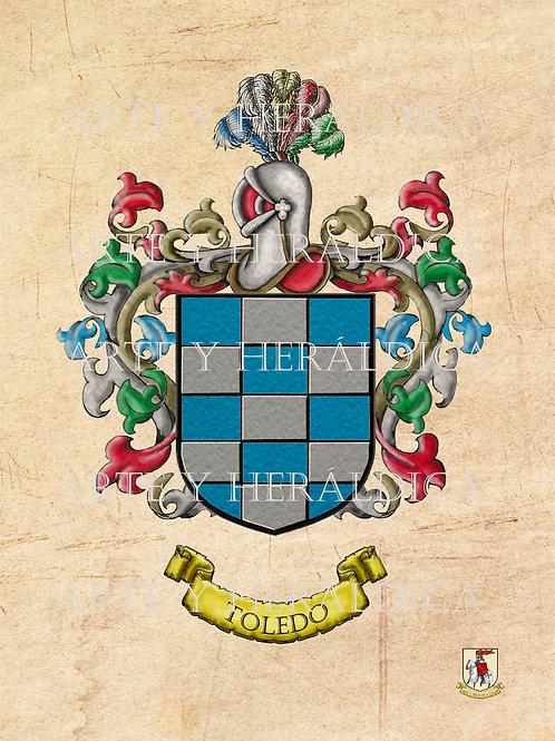 Toledo escudo vintage en PDF