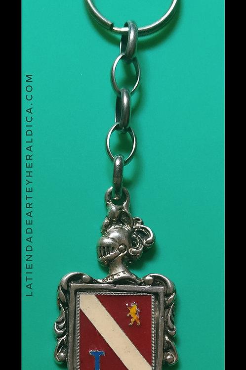 Núñez  llavero de plata escudo en esmalte