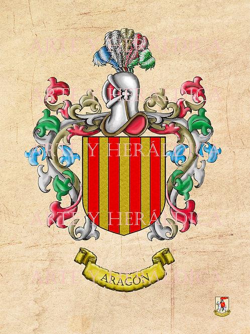Aragón escudo vintage en PDF