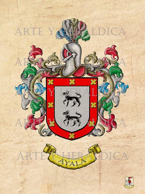 Ayala escudo vintage en PDF