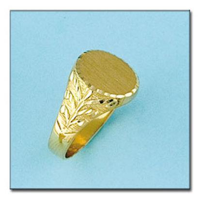 Sello oro 18 Kl. 14x14 mm. 7,5 gr. para grabar