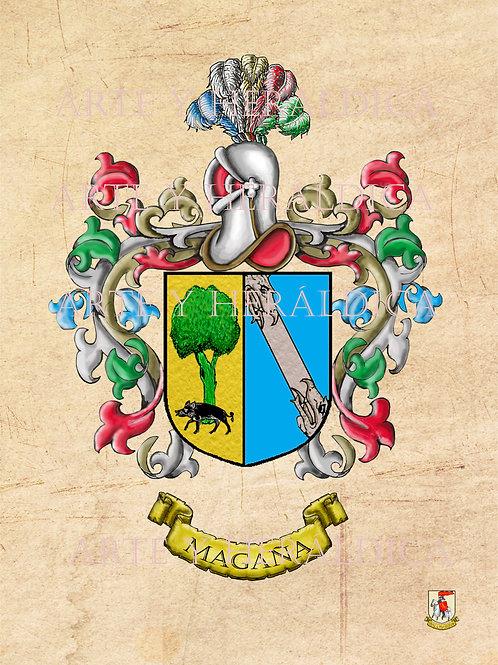 Magaña escudo vintage en PDF