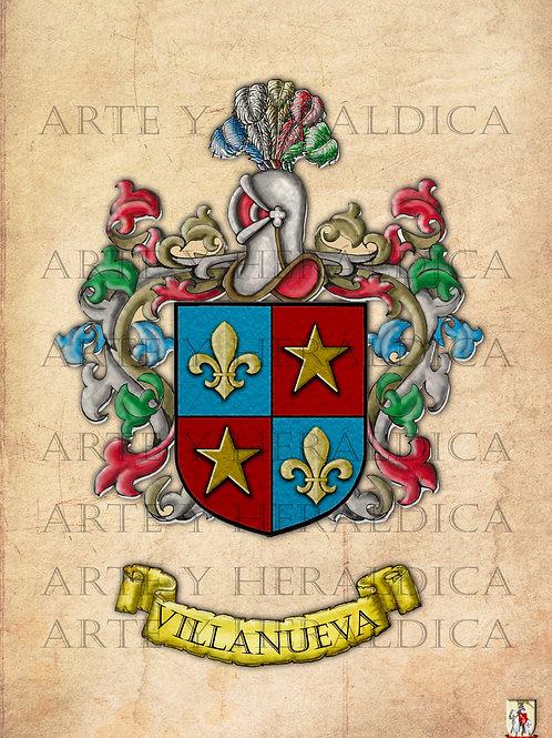 Villanueva escudo vintage en PDF