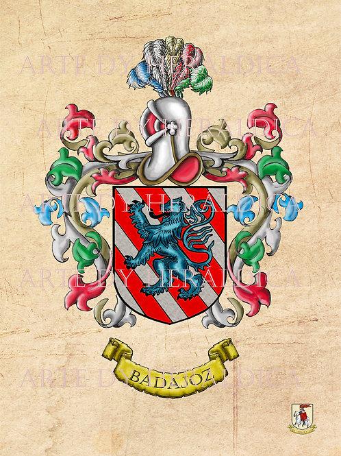 Badajoz escudo vintage PDF