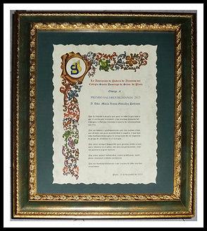 Diploma impreso en lámina DINA3 con marco