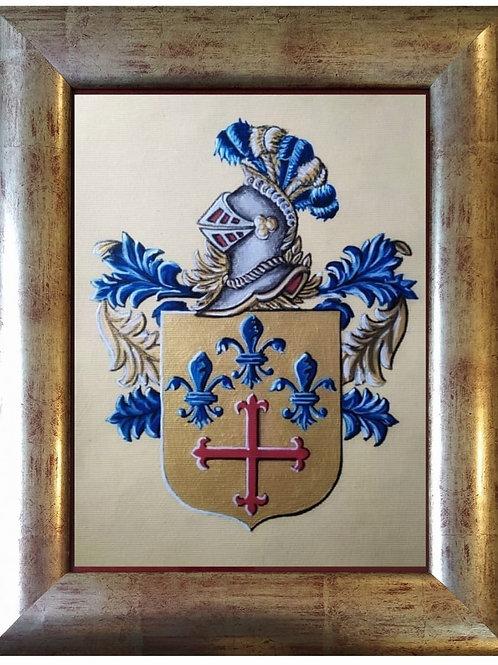 Cuadro con escudo pintado a mano (modelo vintage 2)