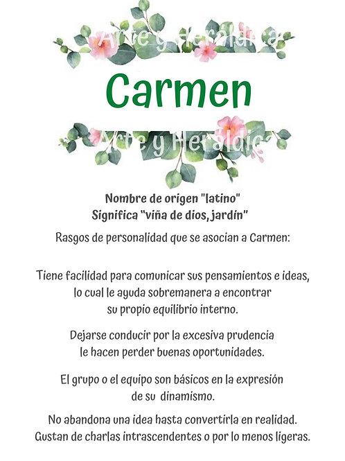 Carmen, origen del nombre para descargar