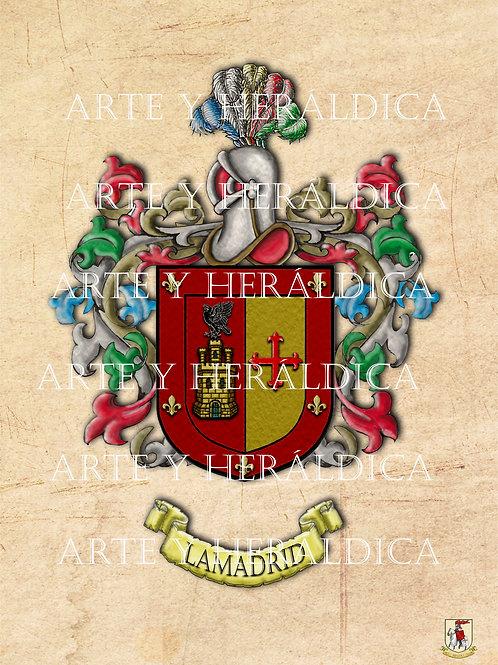 escudo del apellido Lamadrid