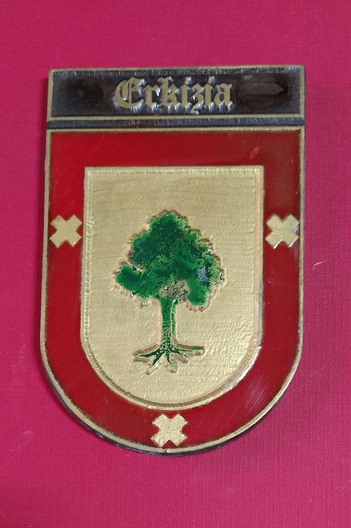 Erkicia ( escudo del apellido en esmalte)