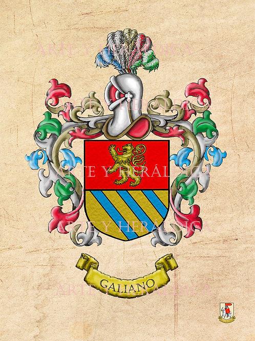 Galiano escudo vintage en PDF