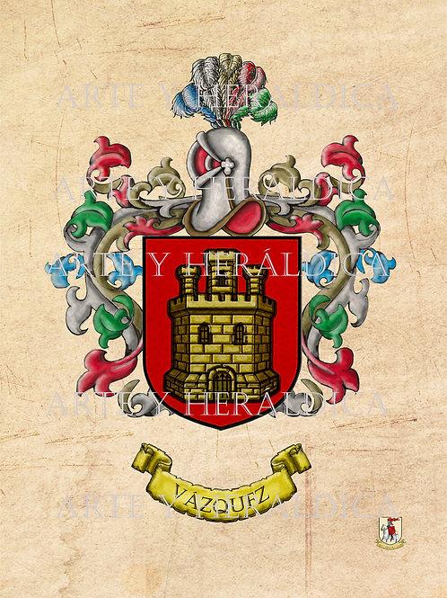 Vázquez escudo vintage en PDF